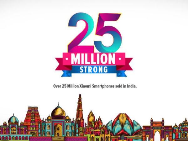 ভারতে ৩ বছরে ২৫ মিলিয়ন ফোন বিক্রি করেছে শাওমি