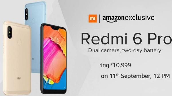 মঙ্গলবার ফ্ল্যাশ সেলে বিক্রি শুরু হবে Redmi 6 Pro