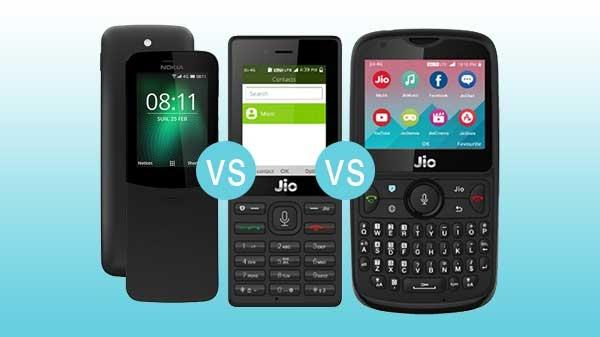 Nokia 8110 4G বনাম JioPhone বনাম JioPhone 2: ফিচারফোন বিভাগে সেরা কে?