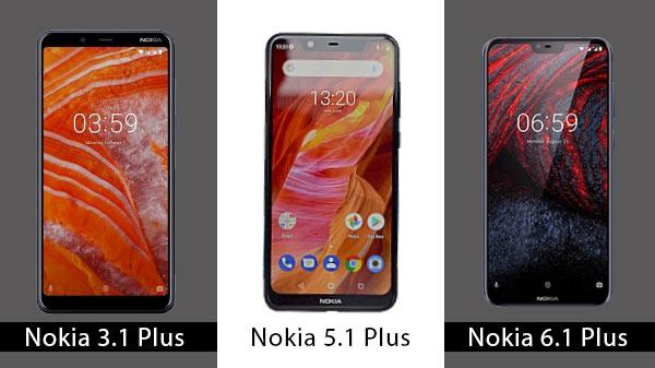 Nokia 3.1 Plus বনাম Nokia 5.1 Plus বনাম Nokia 6.1 Plus